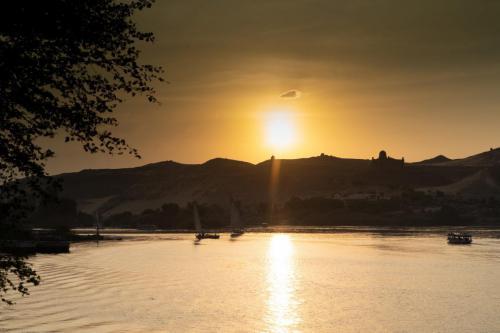 Zonsondergang (Nijl, Egypte)