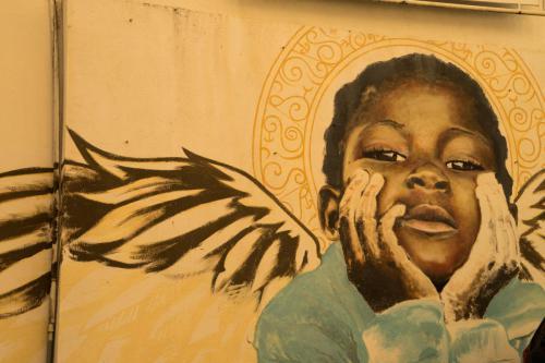 Graffiti engel